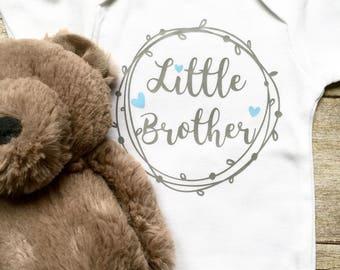 Little Brother Onesie, Newborn Clothes, Baby Boy Onesie, Newborn Onesie, Baby Boy Clothes, Baby Boy Shirt, New Mom Gift, Baby Shower Gift