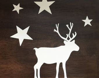 Reindeer Christmas Decoration Static Cling Window Sticker
