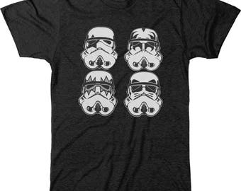 Star Wars Kiss Stormtrooper Men's Tri-blend T-Shirt