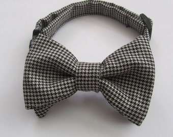 Houndstooth Dog Cat Cotton Bow Tie Made in USA for Small dogs and cats