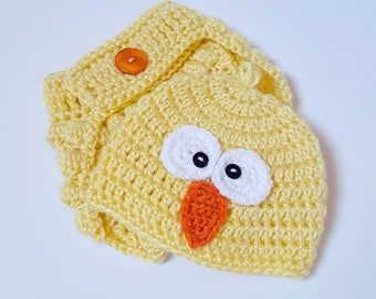 Crochet Baby Chick Outfit