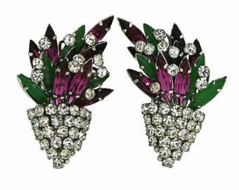 Christian Dior 1968 Vintage Rhinestone Earrings
