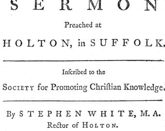 """A Disswasive From Stealing..."""" By Stephen White, 1764"""