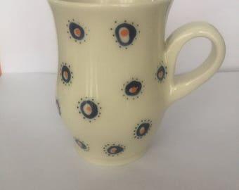 White Patterned Mug