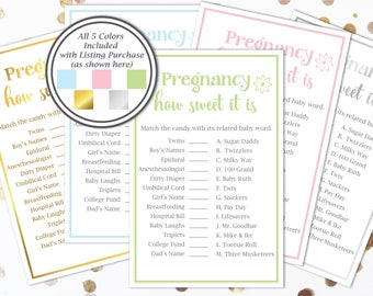 Pregnancy How Sweet It Is Game ~ Baby Shower Game ~ Flower~ Gender Neutral ~ Printable Game 30
