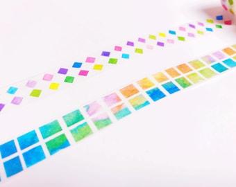 Colorful Shape Washi Tape - 15 mm x 7 m