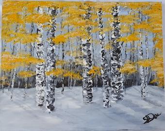 Aspens Acrylic Painting