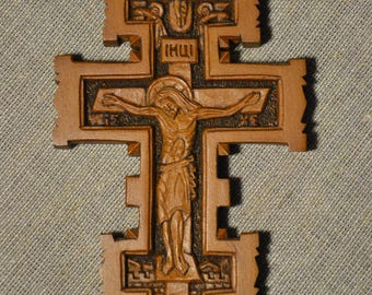 Large Wooden Cross Pendants Natural Wooden Cross Charms PendantNatural Color Wooden Cross Wooden Crucifix Carved Wooden Cross
