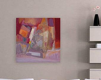 Acrylic Painting Canvas Art, Abstract Acrylic, Abstract Art Painting, Modern Wall Art, Original Abstract Art, Red Painting, Purple Painting