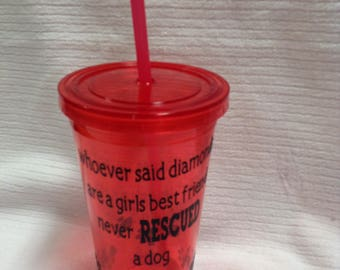 Rescue Dog drinking cup