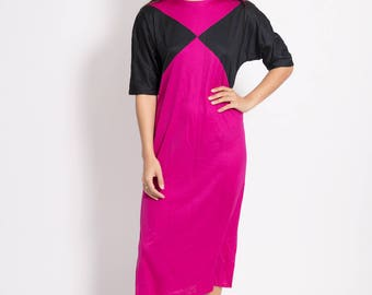 Vintage Pink and Black Dress