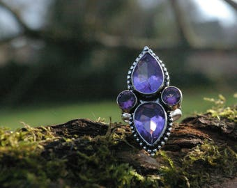 Amethyst ring, size 57 or 8 US