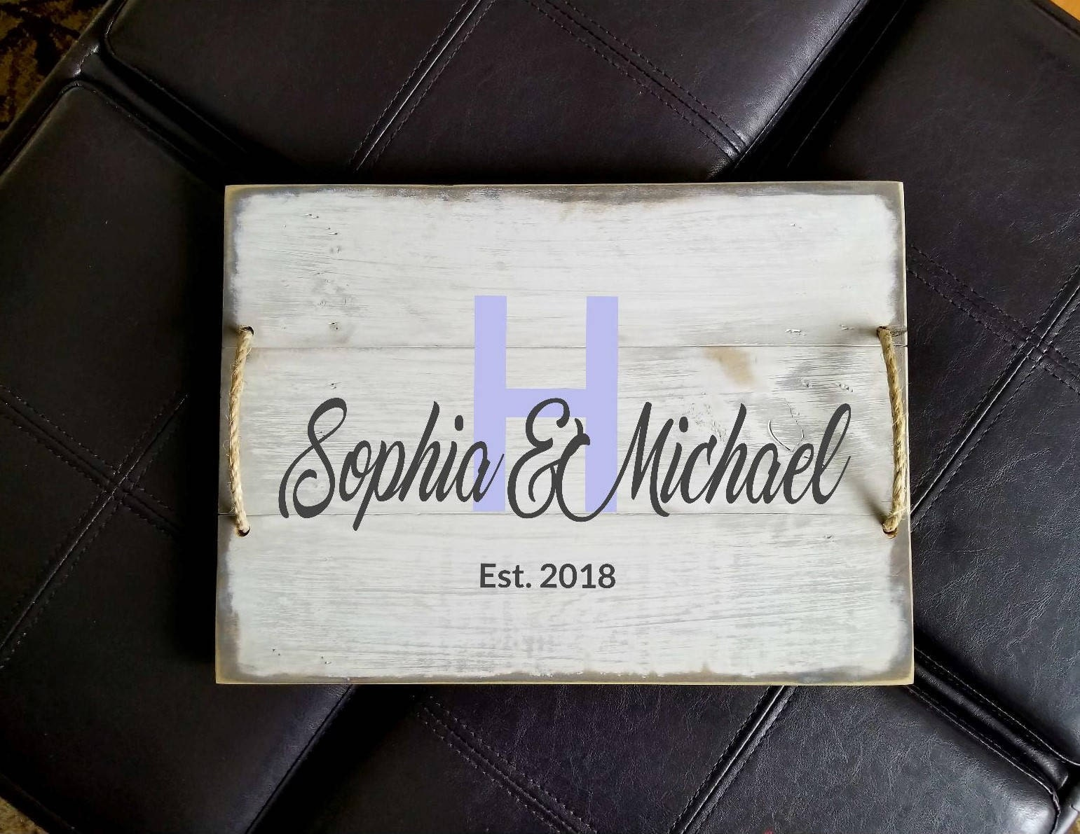 Family Monogram Wooden Tray Personalized Tray Wood