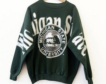 Vintage Bold Michigan State University Sweatshirt