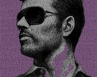 Word Art Poster - George Michael
