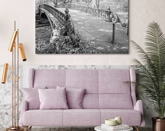 Central Park, New York City, Bridge 27 Photo, Black & White Photography, Scenic, Poster, Print, City Art