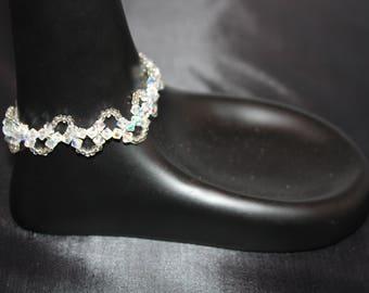 Handmade Crystal Flower Bracelet