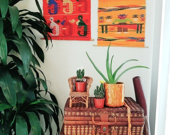 Vintage Aztec Print Mexican Wall Hangings