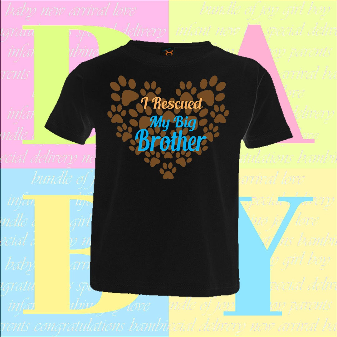 I Rescued My Big Brother Shirt Trendy Toddler Cute Adorable Great