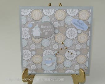 Greeting card - happy new year - thought warm