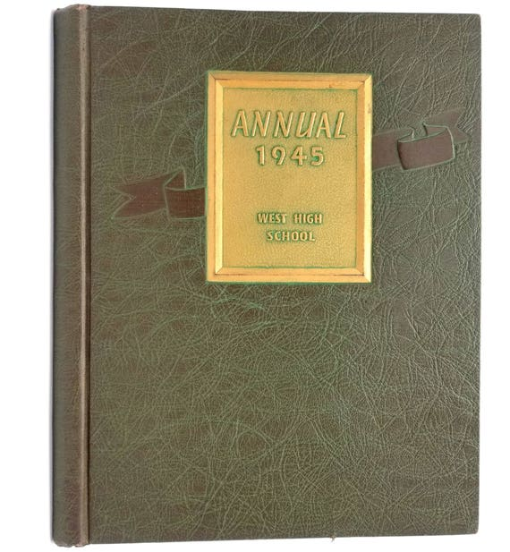 West High School Yearbook (Annual) 1945 Rockford, Illinois IL Winnebago County