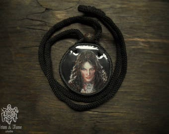 Witcher 3/ Jeniffer /wild hunt /Witcher necklace /Miniature painting/painted acrylic