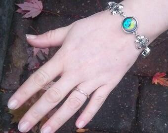 Fleur-De-Lis, Snap bracelet, Snap Charm bracelet, Gingersnap jewelry, Snap, Snap charm jewelry, bracelet, Snap charms, snaps, snap button