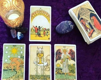 Love Relationship Where is this going ? Three Card Tarot Reading with photos by Psychic Tarot Reader of 30 years experience