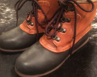 DUCK BOOTS Eddie Bauer Women's Insulated Ankle Duck Boots Waterproof Snow Boots Winter Boots Grunge Size 7