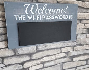 Handmade Wifi Password Chalkboard /Chalkpaint/Vinyl/Home/House warming/WiFi Code