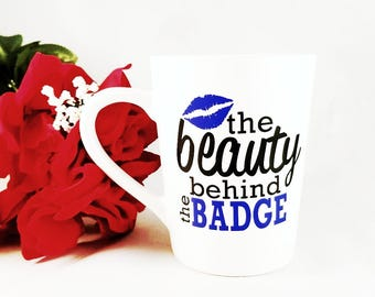 Beauty Behind The Badge | Police Wife | Police Girlfriend | Law Enforcement | Cop Wife | Cop Girlfriend | Blue Lives Matter | Wedding Gift