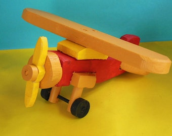 Wooden Toy Monoplane