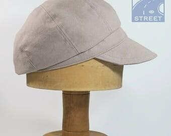 Light brown beige cotton compact newsboy cap cycling cap summer hat