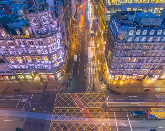 Looking down on Princes Street from the Scott Monument