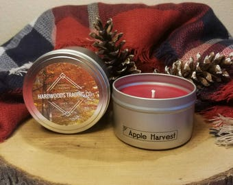 Apple Harvest Scented Candle, Natural Soy Candle, 8 oz Candle, Handmade Candle, Hand Poured Candle, Valentines Day Gift
