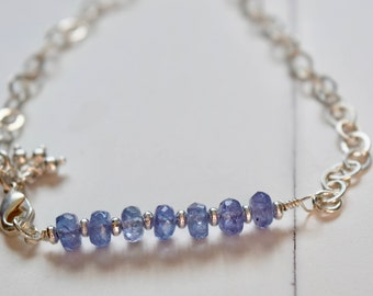 Titillating Tanzanite Bracelet ~December Birthstone Bracelet~ Anniversary Gift~ Valentine's Day Gift Ideas For Her