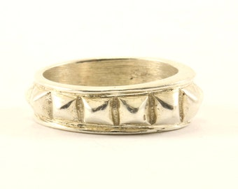 Vintage Pyramid Ring 925 Sterling RG 2768
