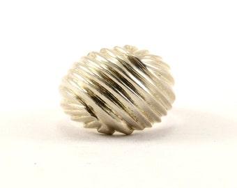 Vintage Textured Ring 925 Sterling RG 43