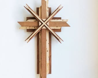 Wooden Cross Using Reclaimed Woods
