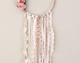 Floral & Lace Dream Catcher