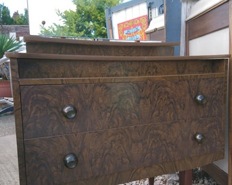 Small, Quirky Mid Century Walnut Veneer Dressing Table