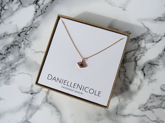 Rose Gold Evil Eye Necklace, CZ Pendant Necklace, Evil Eye Necklace, Dainty Necklace, Dainty Jewelry, Everyday Jewelry, Layered Necklace