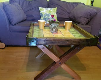 Tiled Wooden Table