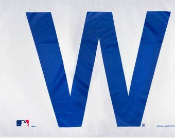 SUMMER SALE Chicago Cubs W Flag and Banner 3' x 5'