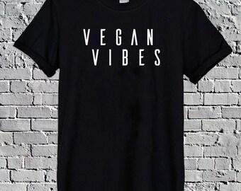 Vegan Vibes T-Shirt Top Tee vegan shirt vegan tshirt vegan t-shirt, plant based tumblr top