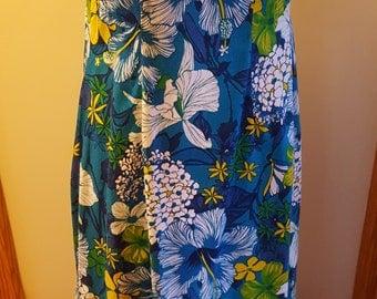 Royal Hawaiian Vintage Full Length A-line Empire Waist Dress