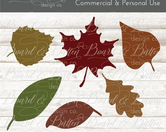 Svg Clipart - Fall Svg File - Silhouette Cameo Designs - Leaves SVG File - Fall Leaves SVG - Autumn Clipart Svg - Autumn Leaves Svg File Dxf