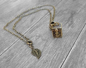 Prayer Box Necklace/ Box Necklace/ Unique Sister Gifts/ Magical Necklace/ Memory Locket Necklace/ Prayer Necklace/