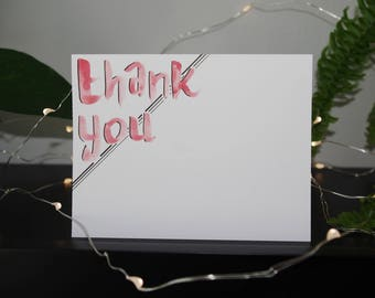 Thank You Card | Appreciation Card | Handmade Card | Watercolour Card | Blank Card