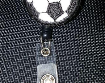 Soccer Ball Name Tag Reel